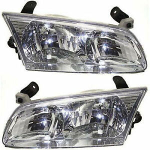 New Depo Driver Passenger Side Headlight Set For 2000 2001 Toyota Camry