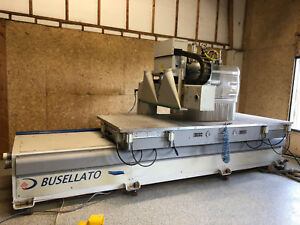 Busellato jet200rt Cnc Router With Sweeper Arm