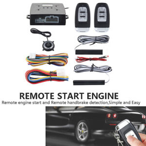 Pke Car Alarm System Passive Keyless Entry Push Button Remote Engine Control