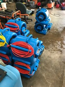 Carpet Dryer Air Mover 3 Speed 1 3 Hp Blower Fan Gfci Outlets Industrial Blue