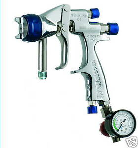 Paint Spray Gun 1 7mm Genesi Geo Pressure Feed Includes Accessories New