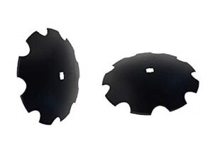 2 Of 18 Notched Disc Harrow Blade 1 1 8 X 1 1 4 Sq Dual Punched 9 Ga 3 5 Mm