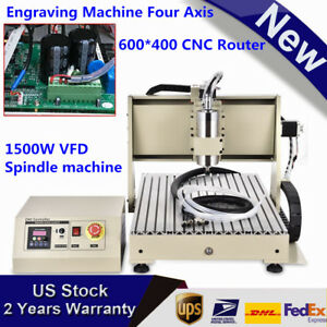 4axis Cnc 6040 Router Engraver Pcb Carving Engraving Machine 3d Cutter 1 5kw Vfd