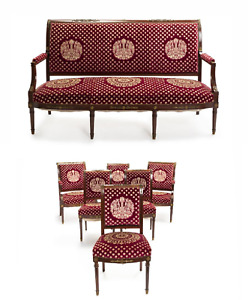 An Empire Style Sitting Furniture Set Sofa 4 Chairs 2 Armchairs