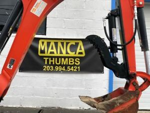 Manca Thumbs 8 x21 Mini Excavator Hydraulic Thumb