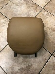 04 Porsche Cayenne Interior Rear Left Seat Head Rest Tan Leather