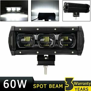 7inch White Led 6d Work Fog Light Bar Spot Suv Boat Driving Lamp Offroad 4wd 60w