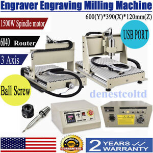 Usb 6040 3 Axis Cnc Router Engraver 1500w Vfd Cutter Engraving Carving Machine