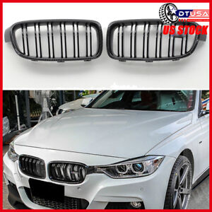 M3 Style Gloss Black Carbon Fiber Look Frame Grille Grill For Bmw 3 F30 31 12 18