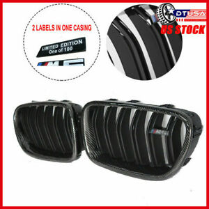 M5 Style Gloss Black Carbon Fiber Look Frame Grille Grill For Bmw 5 F10 09 16