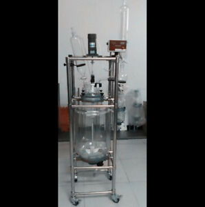 Ce 50l Jacket Chemical Reactor Glass Reaction Vessel Free Shipping
