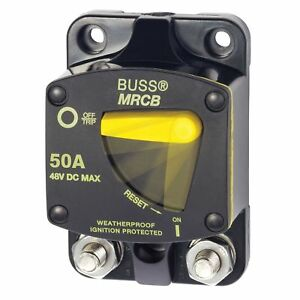 Bussman 187 Series Dc Circuit Breaker Surface Mount 50 Amps Bluesea marpac