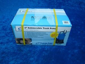 Tsurumi Pump 2 Submersible Trash Pump Hs2 4s 62 1 2 Hp 120v 60hz 53gpm Nib
