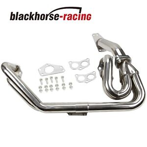Stainless 2 Pc Header Up Pipe For 08 17 Wrx Sti 2 5l Ej25 G3 G4 Exhaust Manifold