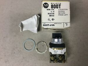 Allen Bradley 800t j4a Selector Switch 3 Position Spring Return From Left nib