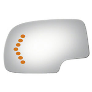 Driver Side Door Mirror Glass For Chevrolet Truck W signal