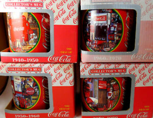 1995 COCA-COLA SET OF FOUR MUGS