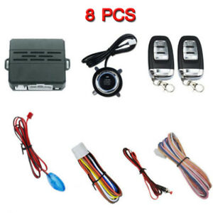 Car Alarm Ignition Engine Start Start Security System Key Push Button Remote Kit