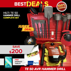 Hilti Te 50 Avr Hammer Drill Preowned Free Tablet Core Bits Fast Ship
