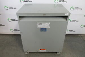 Tested 45 Kva Dry Type Transformer Hv 480 Delta Lv 208 Y 120 Ge 9t23q9874g15
