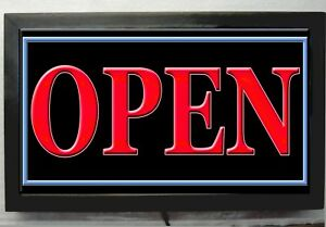 Xl 2 Long Neon Style Look Led Open Sign Light Open Sign Restaurant Business