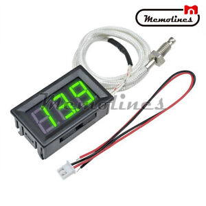 Digital Xh b310 30 800 c Gauge Green Diaplay Thermometer K type M6 Thermocouple