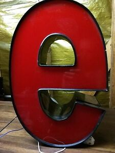 E Red 16 Led Lighted Sign Outdoor Channel Letter E Business Retail Commercial E