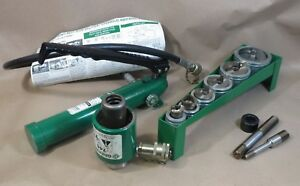 Greenlee 7506 2 Slug Splitter Hydraulic Knockout Punch Set 767 pump 746 ram