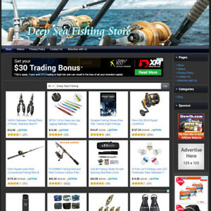 Deep Sea Fishing Store Work From Home Income Online Business Website For Sale