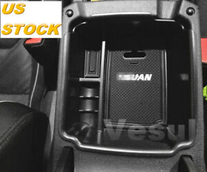 For Vw Tiguan 2018 2019 Central Console Storage Tray Armrest Container Box