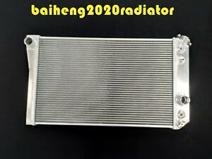 3 Rows Aluminum Radiator For 1984 1990 Corvette Small Block V8 S10 V8 At Mt