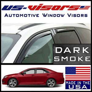 Us visors In channel Window Vent Visors Rain Guards Fits 2012 2015 Toyota Camry