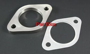 3 Od Exhaust 2 Holes 1 2 Stainless Steel Collector Flange W Aluminum Gasket