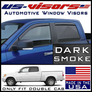 Us Visors In Channel Window Vent Visors Fits 2004 2006 Toyota Tundra Double Cab