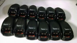 Lot Of 12 Motorola Impres Charger Single Unit Rapid Rate Model Wpln4114ar Used