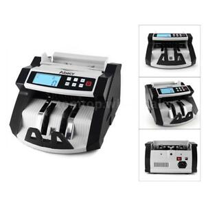 Money Bill Counter Professional Uv Currency Cash Counting Machine Bank Usa V1l1
