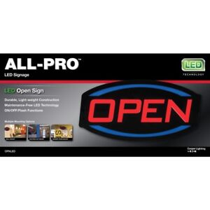 All pro 9 in Multi function Led Open Neon Sign