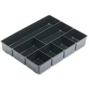 Extra Deep Desk Drawer Director Tray Black 6 Count New