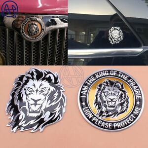 3d Lion Stickers Aluminum Car Decal Car Styling For Vw Volkswagen Bmw Nissan