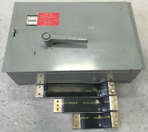 Westinghouse Fdp365r Fusible Panelboard Switch 400a 600v 3 Pole W buss Straps