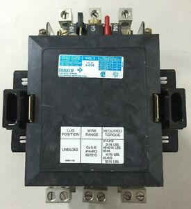 Gould A103e Size 3 Contactor 3 Phase 100 Amp 600 Vac