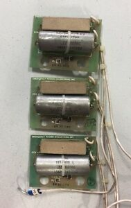 Lot Of 3 Emergency Power Engineering 7 00243 Resistor capacitor Snubber Boards