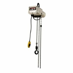 Jet Electric Chain Hoist 1 8 ton Cap 10ft Lift 1 phase Model Jsh 275 10