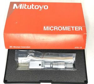 Mitutoyo 368 005 Holtest Vernier Inside Micrometer Two point 5 6mm Range New