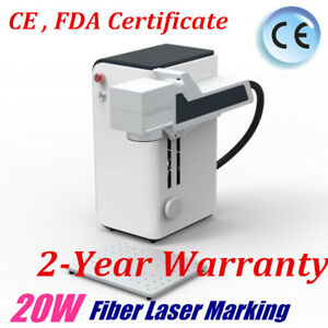 Portable 20w Fiber Laser Marking Marker Machine For Metals And Non metals Cefda
