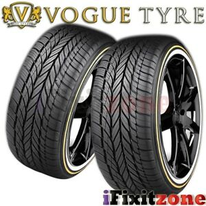 2 Vogue Tyre Custom Built Radial Viii 235 55r17 99h White N Gold Wall Tires