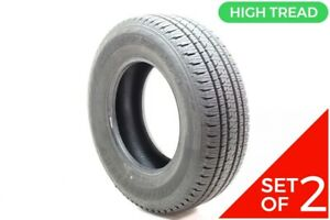 Set Of 2 Driven Once 245 70r16 Bridgestone Dueler H l Alenza Plus 106h