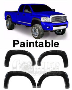 4pc Set Fender Flares Fit Dodge Ram 02 08 15 2500 35 Pocket Rivet Style Textured