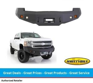 Smittybilt M1 Front Winch Bumper For Chevy Hd 2500 3500 With Light Kit