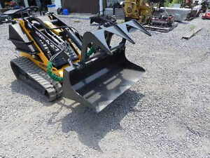 New 44 Cid Xtreme Mini Skid Steer Demo Grapple Bucket Attachment For Toro Dingo